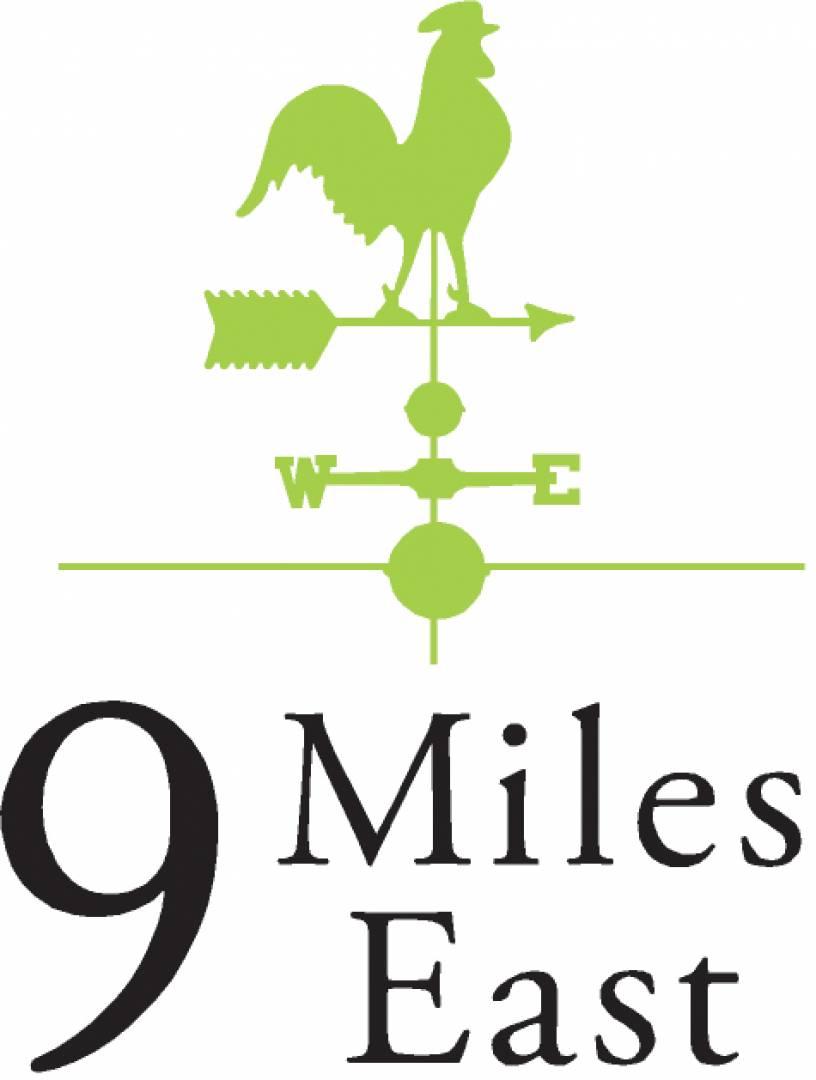 9 Miles East logo